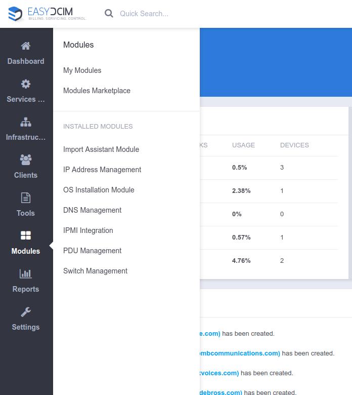 EasyDCIM v1.4.2 - Installed Addons