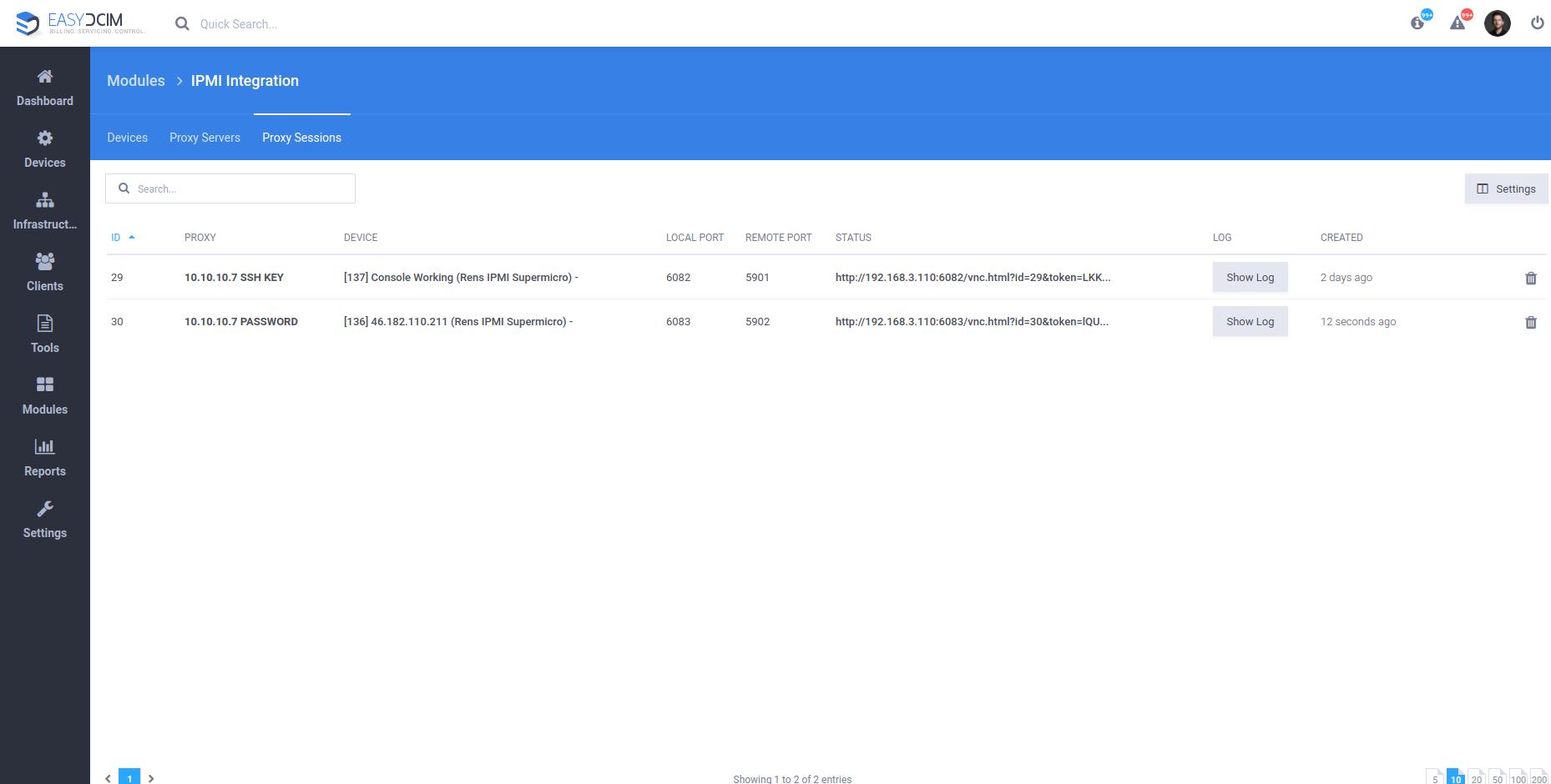 IPMI Proxy Configuration - EasyDCIM v1.5.2