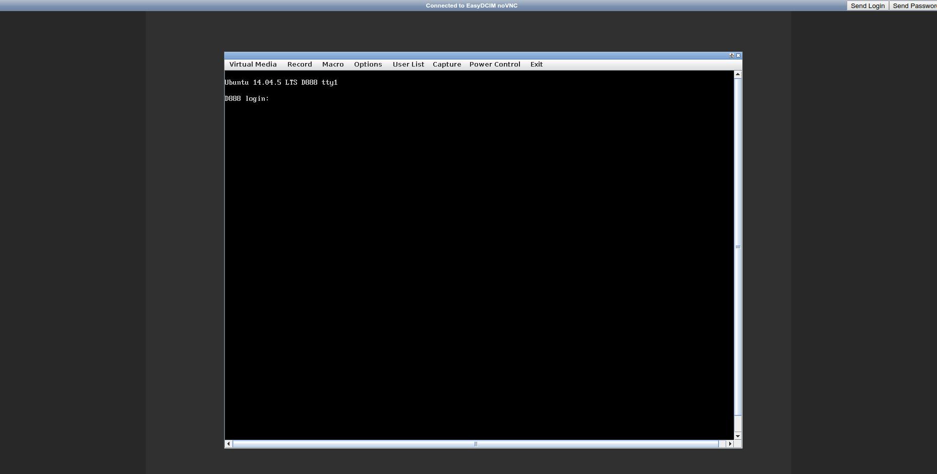 Java Console Applet - EasyDCIM v1.5.2