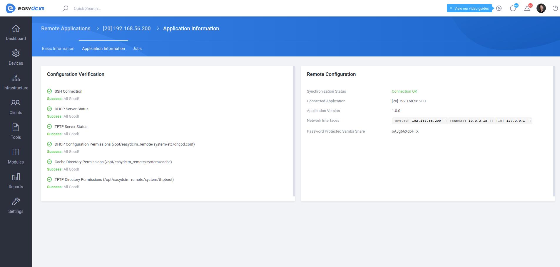 Remote Applications Verification Status - EasyDCIM v1.5.3