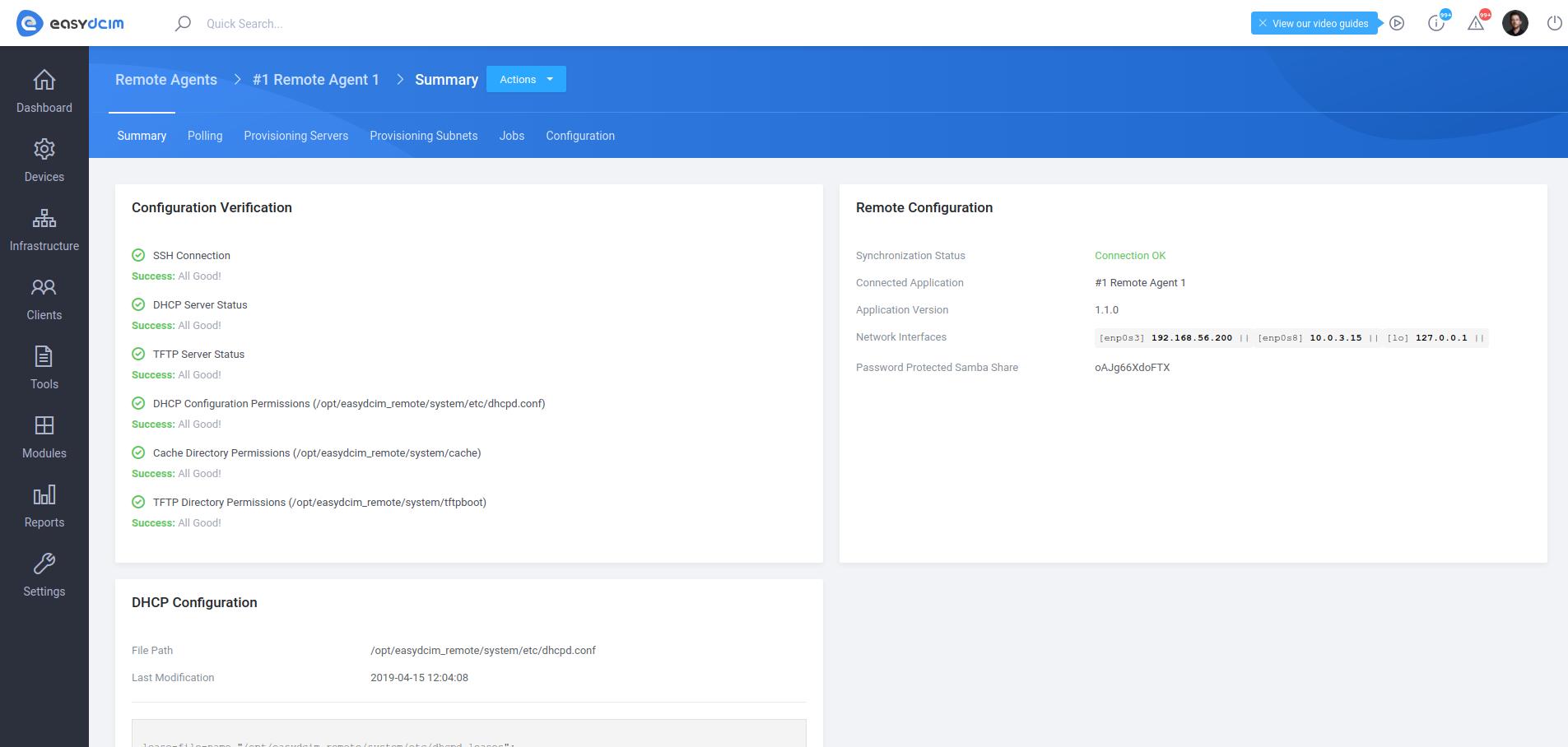 Remote Agent Summary - EasyDCIM v1.6.0