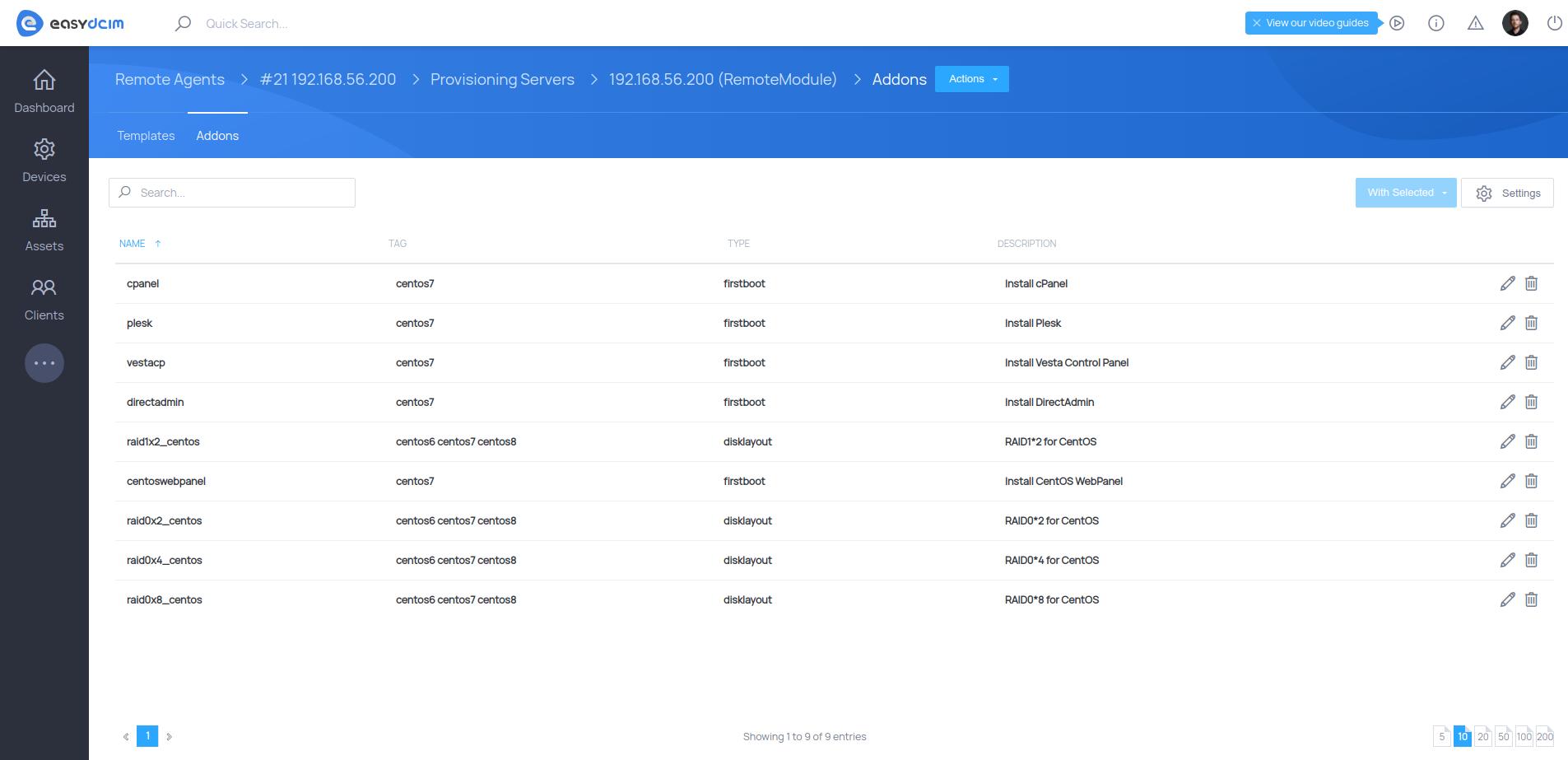 OS Addons - Management - EasyDCIM v1.6.5