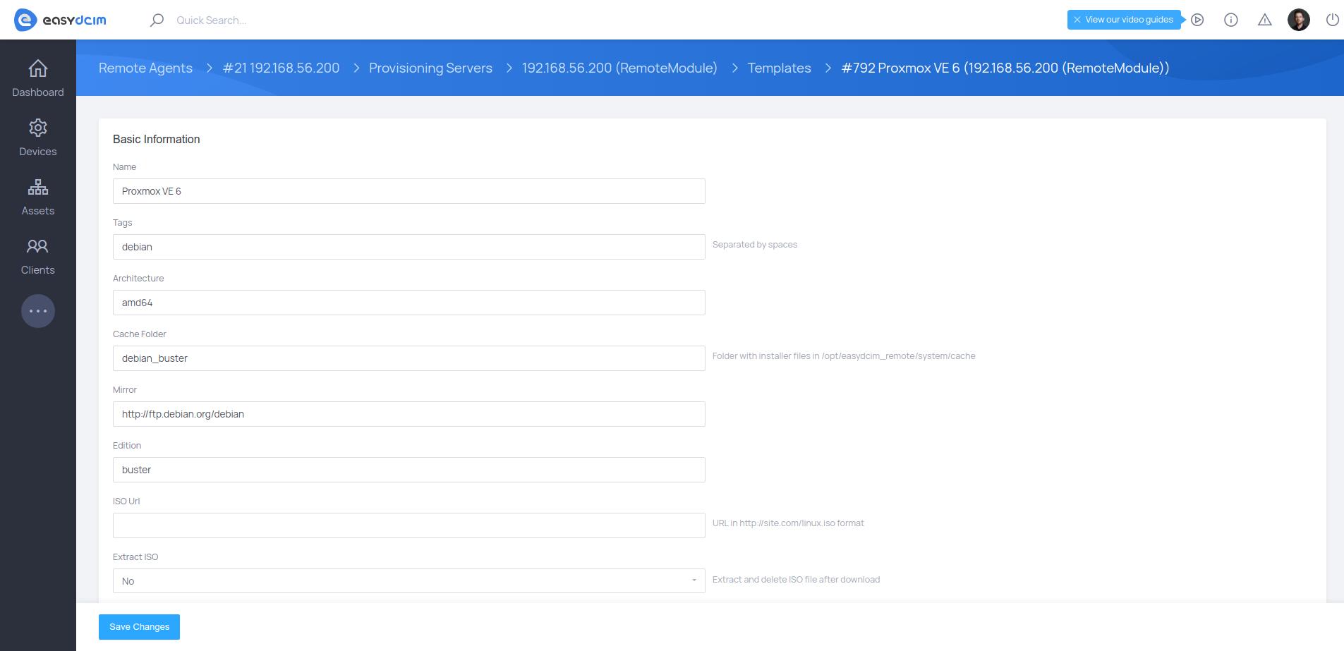 Proxmox VE Template - EasyDCIM v1.6.5
