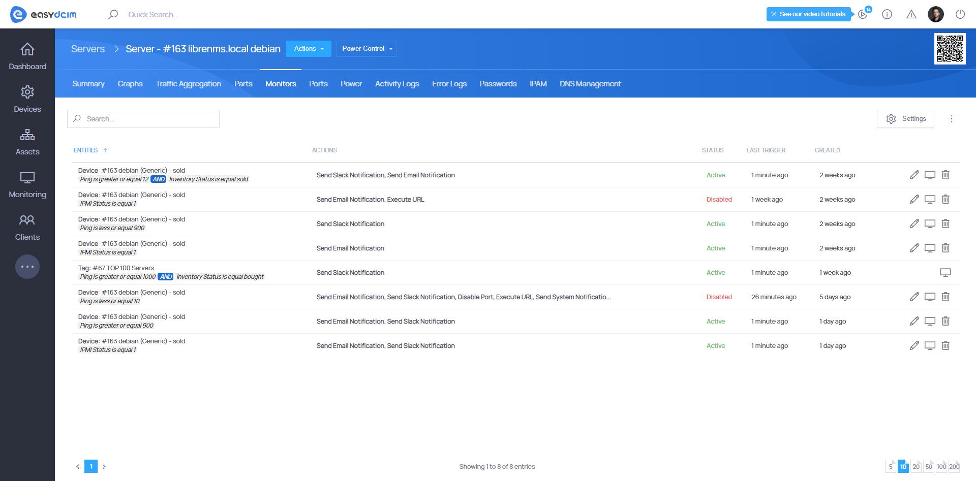 Advanced Monitoring Devices - EasyDCIM v1.7.0