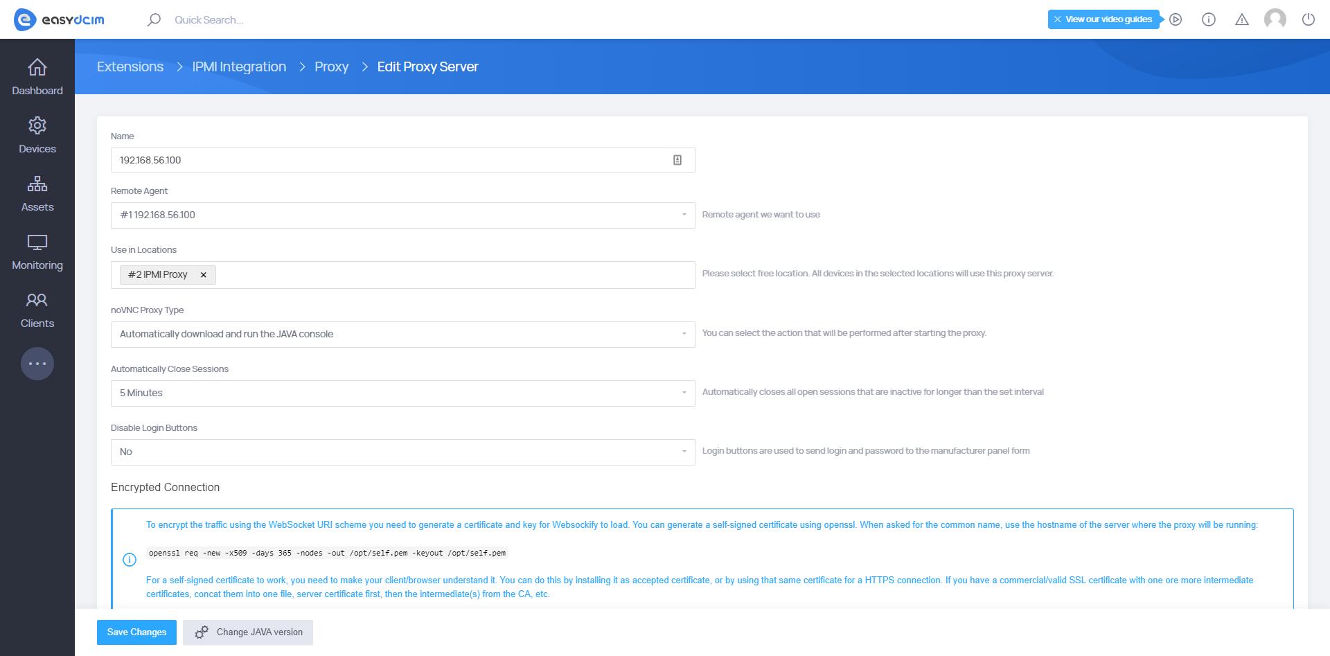 IPMI Proxy Server Management - IPMI Integration Extension - EasyDCIM v1.7.4